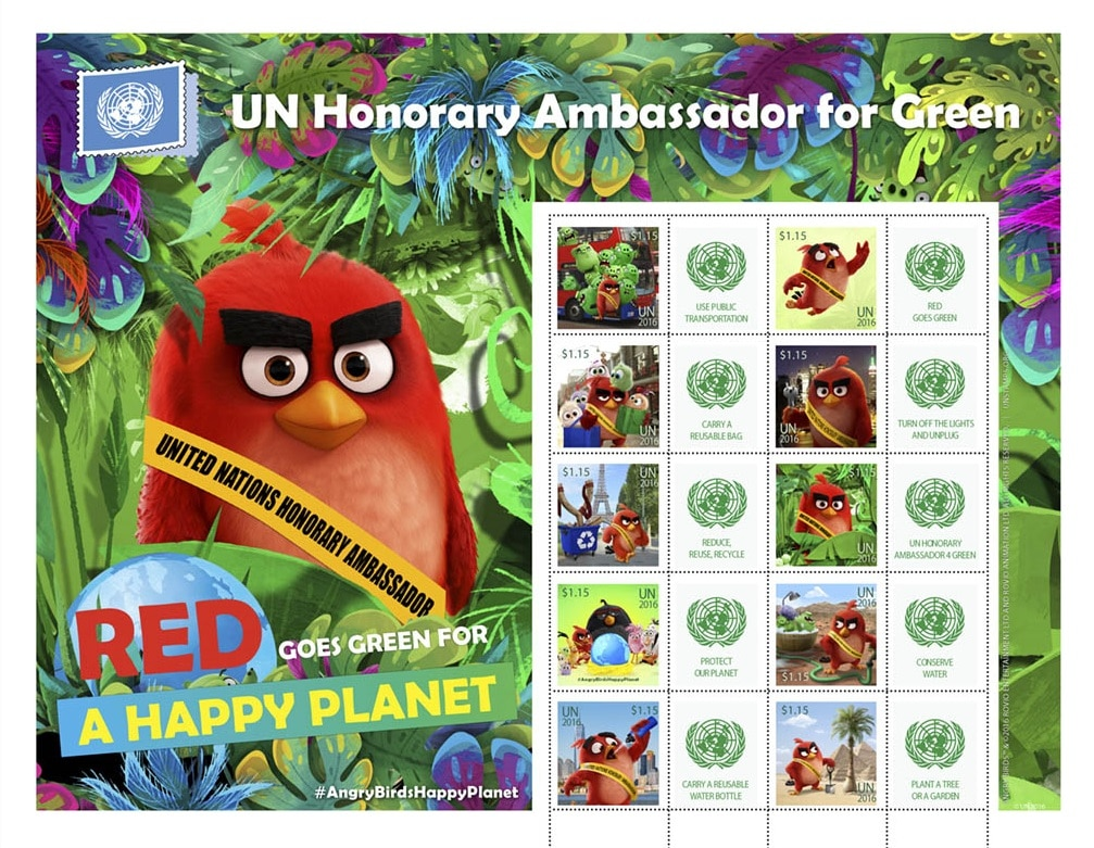 Francobolli Angry Birds
