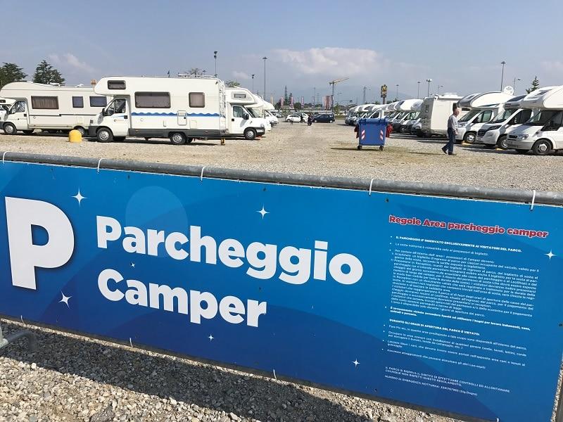 Parcheggio camper Leolandia