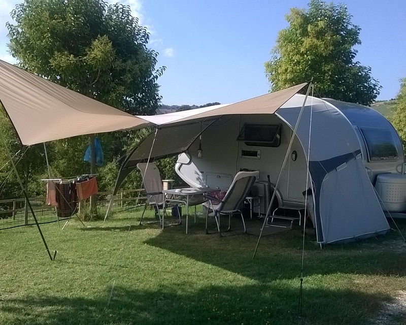 spazio per camper in garden sharing