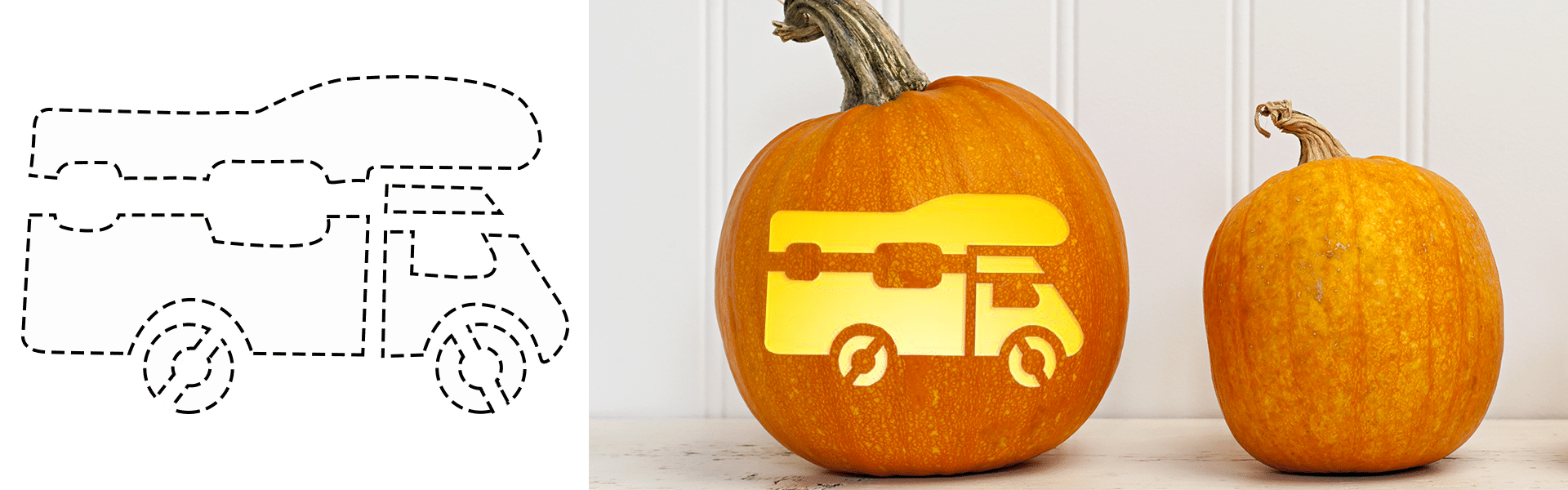 Come creare una zucca per Halloween a tema camper e caravan