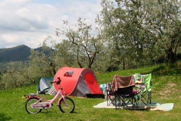 spazio per tenda