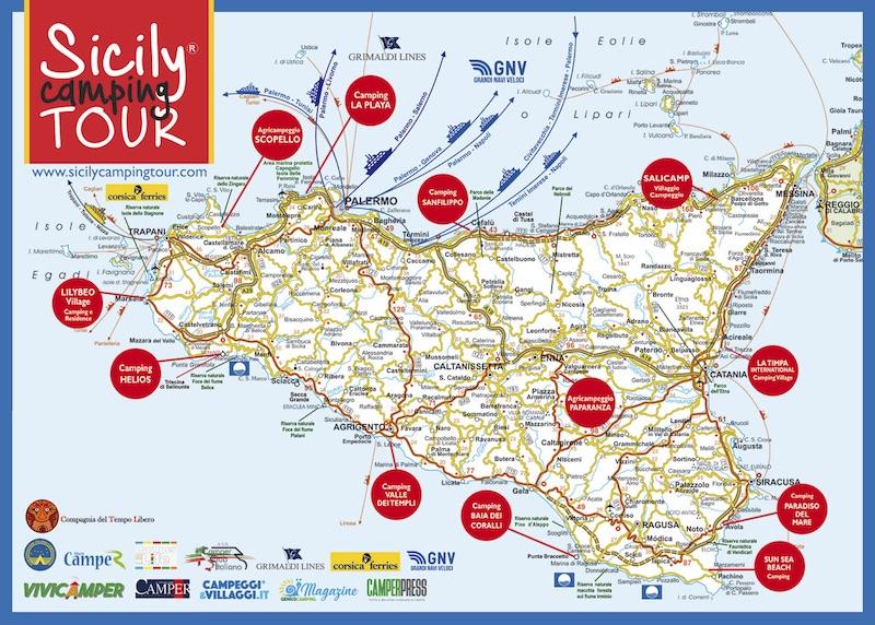 Foto Cartina Sicilia.Sicilia Cartina Fronte Il Campeggio Dei Bambini